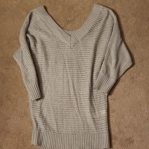 Express Gray Silver Stripe Sweater